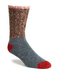 Woolrich - Metallic Colorblock Merino Wool Blend Socks for Men - Lyst