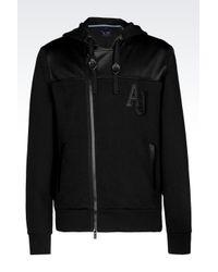 Armani Jeans | Black Full Zip Sweatshirt With Hood for Men | Lyst