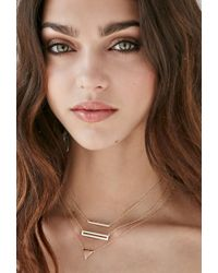 Forever 21 | Metallic Shashi Open Rectangle Necklace | Lyst
