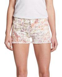 Hudson Jeans - Multicolor Amber Raw Edge Denim Shorts - Lyst