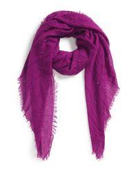 Echo - Sequin Embellished Crinkle Wrap - Purple - Lyst
