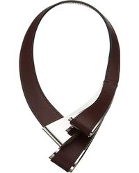 Marni | Purple Leather Twist Necklace | Lyst