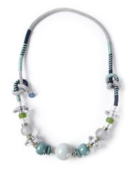 Emporio Armani | Blue Bead Necklace | Lyst