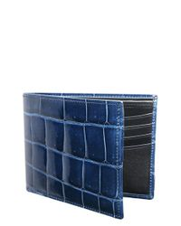 Trafalgar | Blue Genuine Alligator Leather Billfold for Men | Lyst