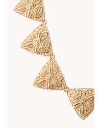 Forever 21 - Metallic Cutout Craze Geo Necklace - Lyst