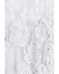 Simone Rocha - White Embroidered Dress With Crochet Flowers - Lyst
