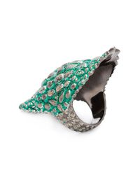 Venyx | Green 'lady Caiman' Ring | Lyst