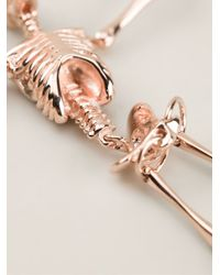 Vivienne Westwood | Metallic 'skeleton' Drop Earrings for Men | Lyst
