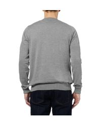 John Smedley - Gray Brock Vneck Sea Island Cotton Sweater for Men - Lyst