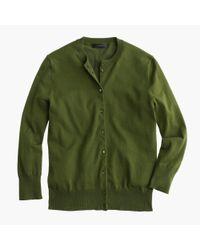J.Crew - Green Cotton Jackie Cardigan Sweater - Lyst