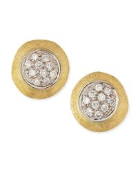 Marco Bicego | Metallic Jaipur 18k Gold Diamond Stud Earrings | Lyst
