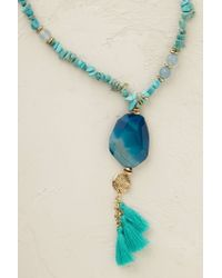 Anthropologie - Blue Turquoise Lagoon Necklace - Lyst