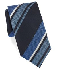 Vince Camuto | Blue Striped Silk Tie for Men | Lyst