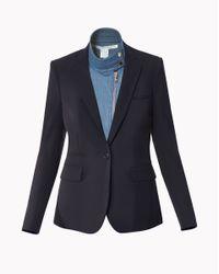 Veronica Beard | Black Classic Jacket With Denim Moto Dickey | Lyst