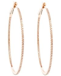 Rosa De La Cruz - Metallic Small 18K Hoop Earrings - Lyst