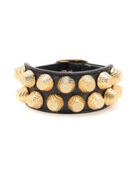 Balenciaga | Metallic Giant Stud Leather Bracelet | Lyst