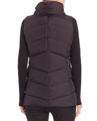 Eileen Fisher - Black High-collar Puffer Vest - Lyst