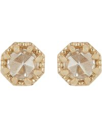 Grace Lee - Metallic Women's Petite Crown Bezel Diamond Studs - Lyst