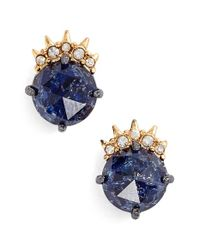Alexis Bittar | Blue Spike Stud Earrings - Gunmetal | Lyst