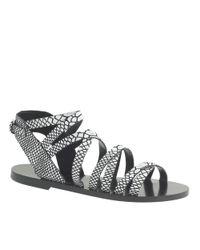 J.Crew | White Callista Embossed Gladiator Sandals | Lyst