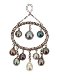 Assael - Metallic Ovalpendant Tahitian Pearl Enhancer - Lyst