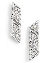 Dana Rebecca - Metallic 'kathryn Lynn' Diamond Stud Earrings - Lyst