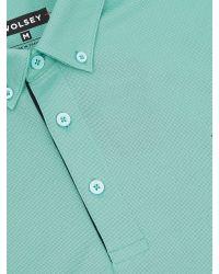 Wolsey | Green Self Collar Pique Polo for Men | Lyst