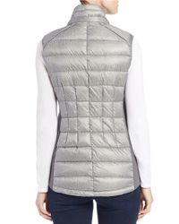 MICHAEL Michael Kors | Gray Faux Fur-trimmed Quilted Vest | Lyst