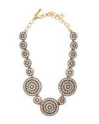 Oscar de la Renta   Metallic Gold-plated Disk Necklace   Lyst