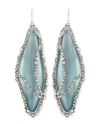 Alexis Bittar | Green Crystalcaged Lucite Dragonfly Wing Earrings Grayblue | Lyst