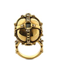 Alexander McQueen | Metallic Harness Skull Ring for Men | Lyst