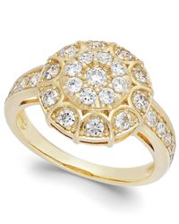Wrapped in Love - Metallic ™ Diamond Disk Ring In 14k Gold (1 Ct. T.w.) - Lyst