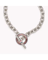 Tommy Hilfiger | Metallic Signature Necklace | Lyst
