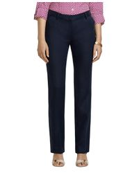 Brooks Brothers - Blue Lucia Fit Linen Straight Leg Pants - Lyst