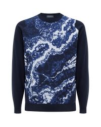 John Smedley | Blue Lithic Merino Jumper for Men | Lyst