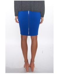 Alexander Wang - Blue Fitted Skirt With Back Zip - Lyst