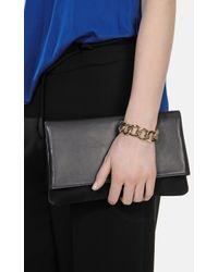 Karen Millen - Metallic Statement Chain Link Bracelet - Lyst