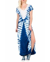 Volcom - Blue Supersonic Tie-Dyed Maxi Dress - Lyst