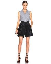 TOME | Black Fwrd Exclusive Taffeta Shorts | Lyst