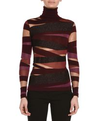 Emilio Pucci - Multicolor Sheer-inset Mixed Bandage Knit Top - Lyst