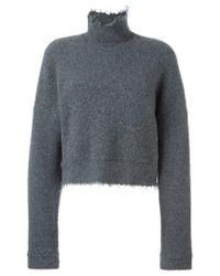 Dorothee Schumacher - Gray Fringed Edge Sweater - Lyst