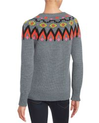 Trina Turk - Gray Addy Patterned Sweater - Lyst