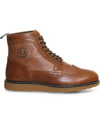 Fred Perry | Brown Northgate Leather Boots for Men | Lyst