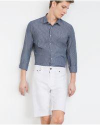 Zara | White Denim Shorts for Men | Lyst