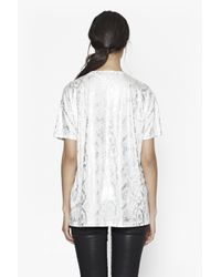French Connection - White Rainbow Snakeskin T-shirt - Lyst