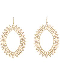 Irene Neuwirth - Metallic Marquise-shaped Drop Earrings - Lyst
