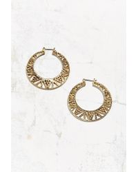 Urban Outfitters | Metallic Zigzag Cutout Hoop Earring | Lyst