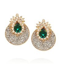 Shourouk | Metallic Luna Comet Gold-Plated Swarovski Clip Earrings | Lyst