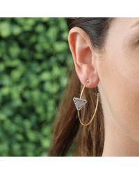 Jemma Wynne - Metallic Triangle Hoop Earrings - Lyst