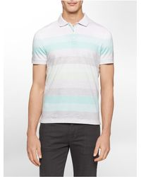 Calvin Klein | Blue White Label Classic Fit Heathered Stripe Polo Shirt for Men | Lyst